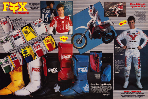 a6cf9a71c51 Blaze – The 1985 season marked some big changes at Fox Racing. The first  was a transition away from their original name of Moto-X Fox