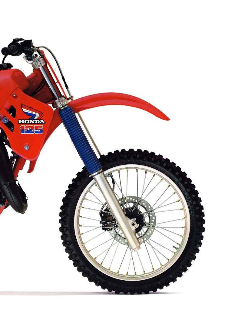 Classic Steel 130 1985 Cr125 Pulpmx Honda Cr125r Engine Wiring Diagram One Of The Strengths 85 Package Were Its Excellent Kayaba Forks Air Assisted And Adjustable For Compression Damping No Rebound Adjustment