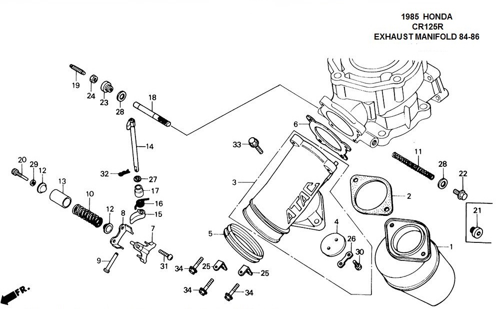 Incredible Cr125 Engine Diagram Wiring Diagram Wiring Cloud Hisonuggs Outletorg