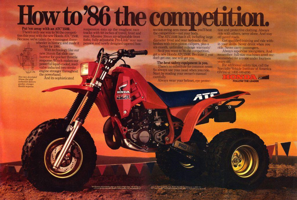 "Maxxis Tires"" – Classic Steel 138 1986 Honda ATC250R – PulpMX"
